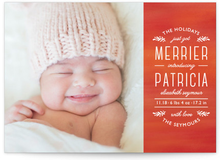 Perfect Harmony Holiday Birth Announcements