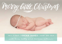 Littlest Merry Holiday Birth Announcements By Pink House Press