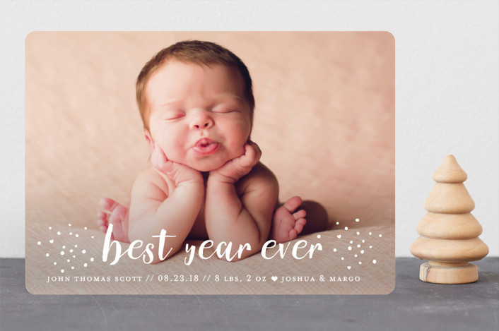 """holiday blessings"" - Holiday Birth Announcements in Cream by Loren Willis."