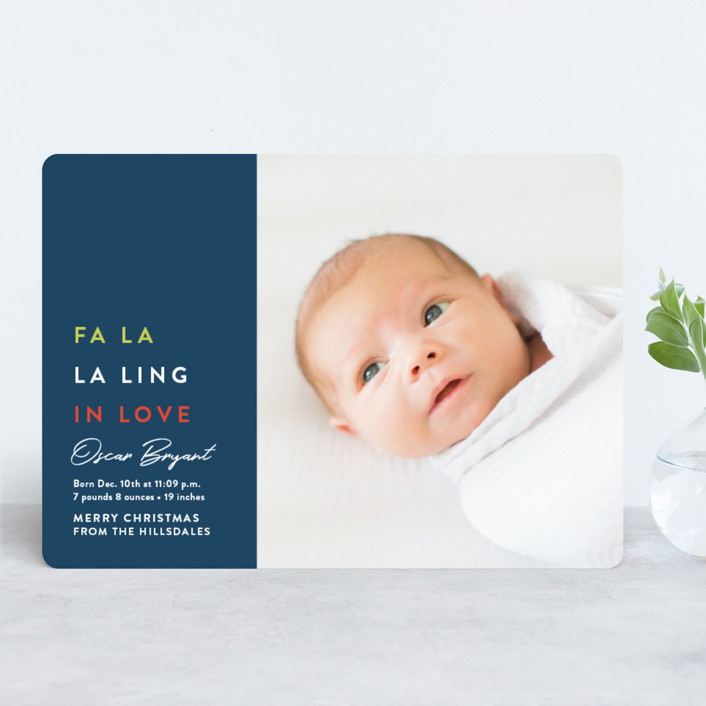 fa-la-ling-in-love holiday photo card