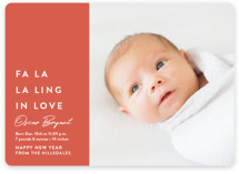 This is a red babys first christma by Amy Kross called fa-la-ling-in-love with standard printing on smooth signature in standard.