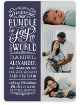 This is a blue babys first christma by Sarah Brown called Bundle of Joy to the World with standard printing on smooth signature in standard.