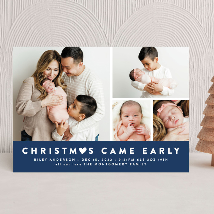 """""""Our Little World"""" - Holiday Birth Announcements in Berry by roxy."""