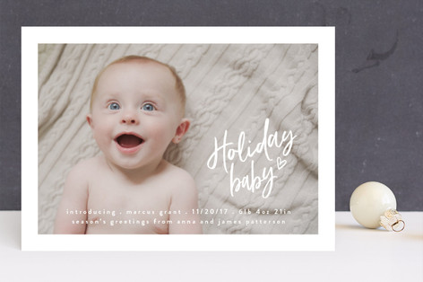 Candycane Lane Holiday Birth Announcements