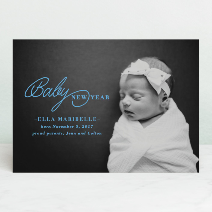 """Baby New Year"" - Holiday Birth Announcements in Sugar by Sara Heilwagen."