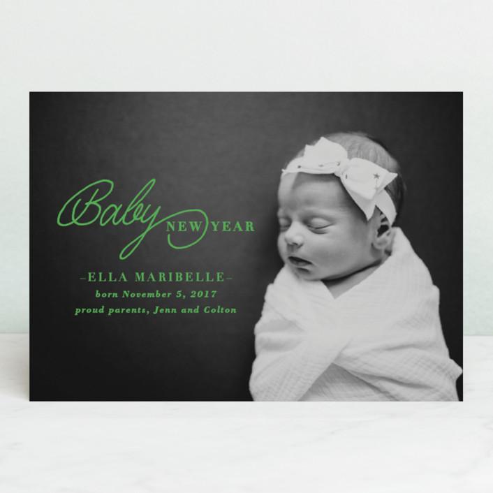 """Baby New Year"" - Holiday Birth Announcements in Sugar by Sara Heilwagen."