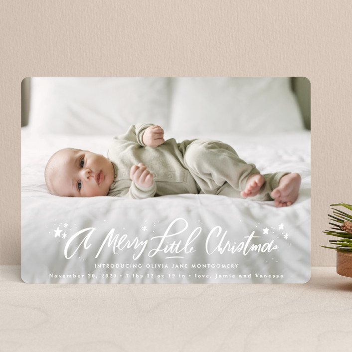 """""""A Merry Little"""" - Holiday Birth Announcements in Whipped Cream by Julie Murray."""