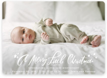 This is a white babys first christma by Julie Murray called A Merry Little with standard printing on smooth signature in standard.