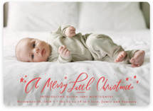 This is a red babys first christma by Julie Murray called A Merry Little with standard printing on smooth signature in standard.