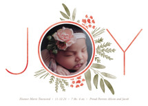 Ultimate Joy Holiday Birth Announcements By Oscar & Emma