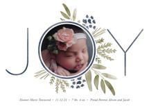 Ultimate Joy Holiday Birth Announcements By Oscar & Emma
