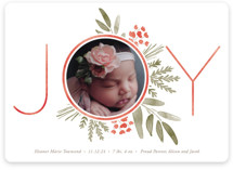 This is a red babys first christma by Oscar & Emma called Ultimate Joy with standard printing on smooth signature in standard.