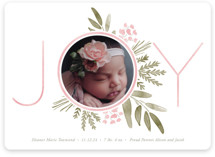 This is a pink babys first christma by Oscar and Emma - Karly Depew called Ultimate Joy with standard printing on smooth signature in standard.
