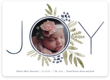 This is a blue babys first christma by Oscar & Emma called Ultimate Joy with standard printing on smooth signature in standard.