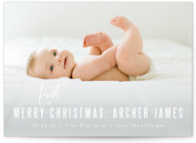 This is a white babys first christma by Kristie Kern called Edit with standard printing on smooth signature in standard.