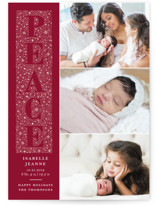 This is a red babys first christma by Sarah Brown called Knockout with standard printing on smooth signature in standard.
