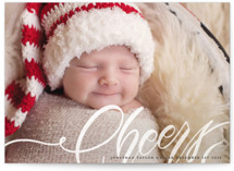 This is a white babys first christma by Grace Kreinbrink called Merry First Script with standard printing on smooth signature in standard.