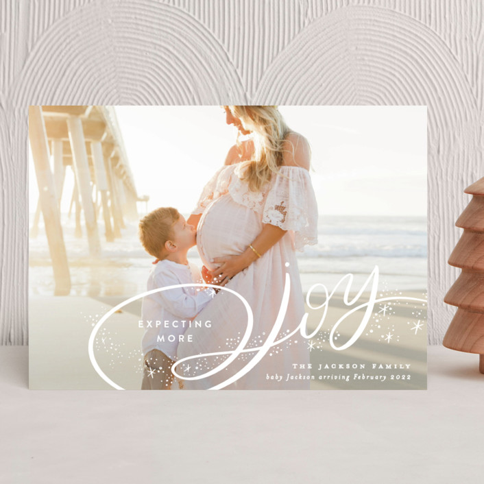 """""""Expecting More Joy"""" - Holiday Birth Announcements in Starlight by Alethea and Ruth."""