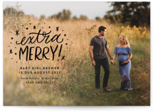 This is a black babys first christma by Ink and Letter called Extra Merry with standard printing on smooth signature in standard.