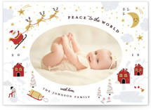 This is a red babys first christma by Katie Zimpel called Peace to the World with standard printing on smooth signature in standard.