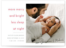 This is a red babys first christma by Kaydi Bishop called More and Less with standard printing on smooth signature in standard.