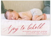 This is a red babys first christma by Bonjour Berry called A Joy to Behold with standard printing on smooth signature in standard.