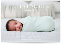 This is a white babys first christma by Lori Wemple called Mostly Silent Nights with standard printing on smooth signature in standard.
