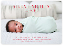 This is a red babys first christma by Lori Wemple called Mostly Silent Nights with standard printing on smooth signature in standard.