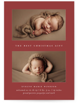 This is a red babys first christma by Bethany McDonald called The Best Gift with standard printing on smooth signature in standard.