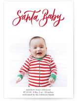 This is a red babys first christma by Elsa Duncan called Santa Baby Hand Lettered with standard printing on smooth signature in standard.