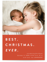 This is a orange babys first christma by Kasia Labocki called color block Christmas with standard printing on smooth signature in standard.
