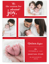 This is a red babys first christma by fatfatin called Abundant Joy with standard printing on smooth signature in standard.