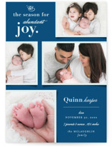 This is a blue babys first christma by fatfatin called Abundant Joy with standard printing on smooth signature in standard.