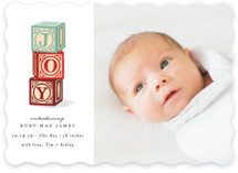 This is a blue babys first christma by Snow and Ivy called ABC Joy with standard printing on smooth signature in standard.