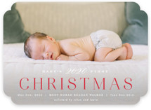 This is a red babys first christma by Hooray Creative called Babys 1st Christmas with standard printing on smooth signature in standard.