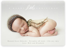 This is a white babys first christma by Julie Murray called Little Script with standard printing on smooth signature in standard.