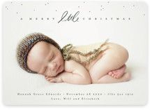 This is a green babys first christma by Julie Murray called Little Script with standard printing on smooth signature in standard.