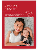 This is a red babys first christma by Amy Kross called A Brand New Life with standard printing on smooth signature in standard.