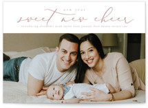 This is a pink babys first christma by Grace Kreinbrink called New Year New Cheer with standard printing on signature in standard.