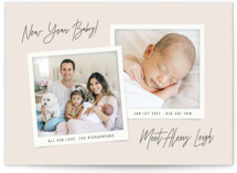This is a beige babys first christma by Hooray Creative called New Year Baby with standard printing on signature in standard.