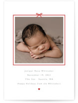 This is a red babys first christma by Caitlin Considine called All Wrapped Up with standard printing on smooth signature in standard.