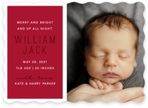 This is a red babys first christma by Caitlin Considine called Up All Night with standard printing on smooth signature in standard.