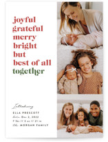 This is a red babys first christma by Julie Murray called Best of All with standard printing on smooth signature in standard.