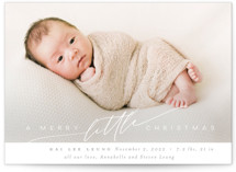 This is a white babys first christma by Nicoletta Savod called Littlest Christmas Gift with standard printing on smooth signature in standard.