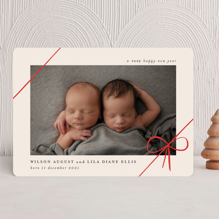 """""""Gifts"""" - Holiday Birth Announcements in Ruby by Rebecca Daublin."""