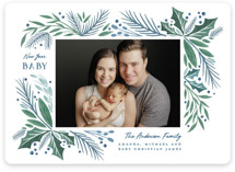 This is a blue babys first christma by Paper Sun Studio called First Noel with standard printing on smooth signature in standard.