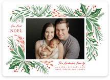 This is a red babys first christma by Paper Sun Studio called First Noel with standard printing on smooth signature in standard.