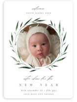 This is a green babys first christma by Kelly Schmidt called Wreath Blessings with standard printing on smooth signature in standard.