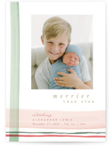 This is a green babys first christma by Creo Study called Gift Wrapped with standard printing on signature in standard.