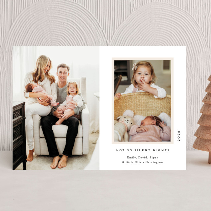 """""""Our Holiday Album"""" - Holiday Birth Announcements in Vanilla by Gwen Bedat."""